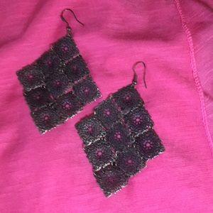 Beautiful Bronze filigree pattern earrings